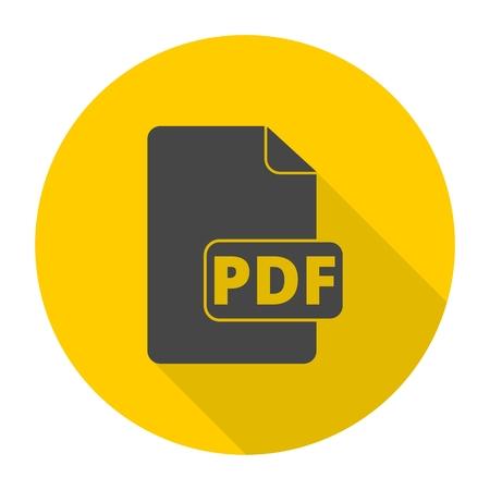 pdf: Pdf icon with long shadow