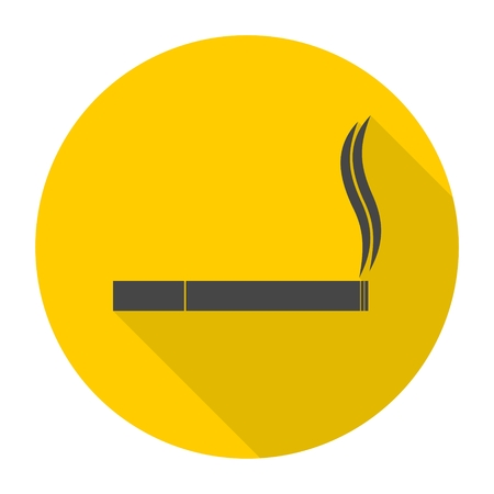 toxic product: Cigarette icon with long shadow