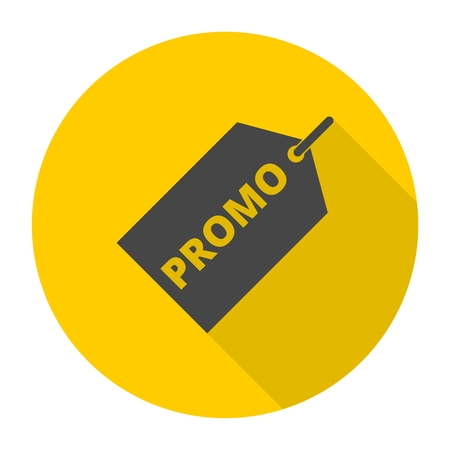 Promo icon with long shadow