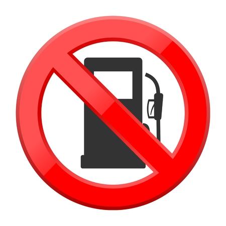propellant: No Gas Sign Illustration