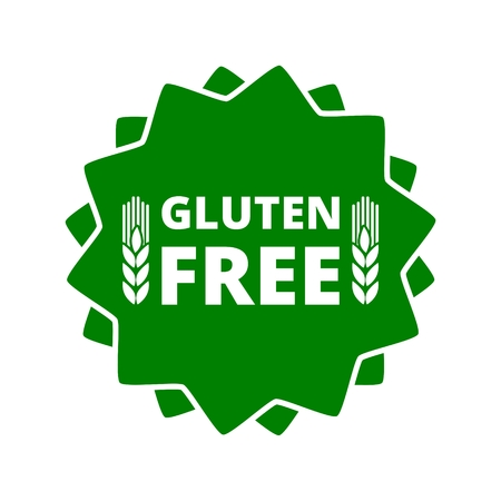 celiac: Gluten free button sign icon