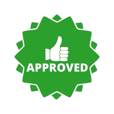 Approuvé bouton signe icône Banque d'images - 54979841