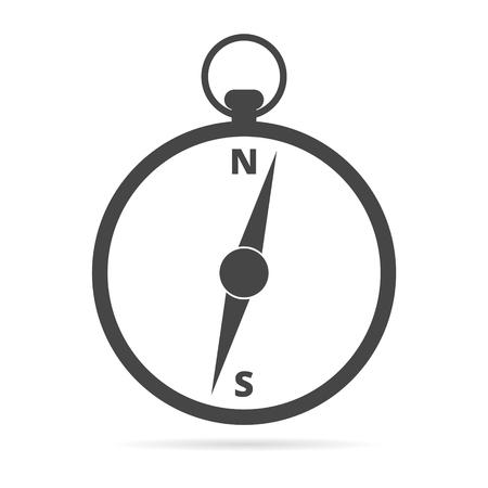 Compass icon vector Vettoriali