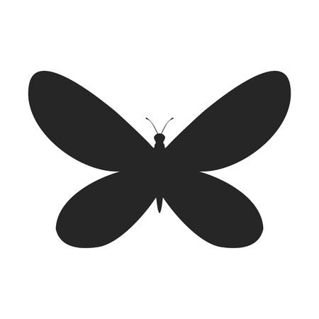 butterfly silhouette: Simple butterfly silhouette shape