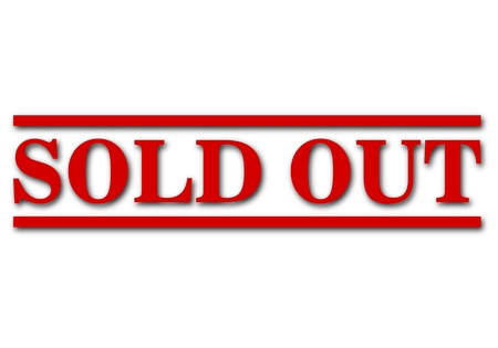 Sold out sign, icon