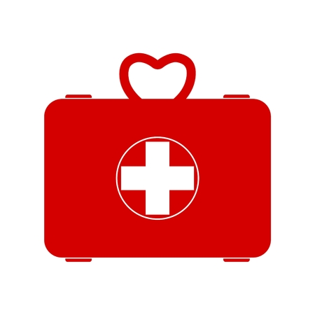 Red first aid box Illustration