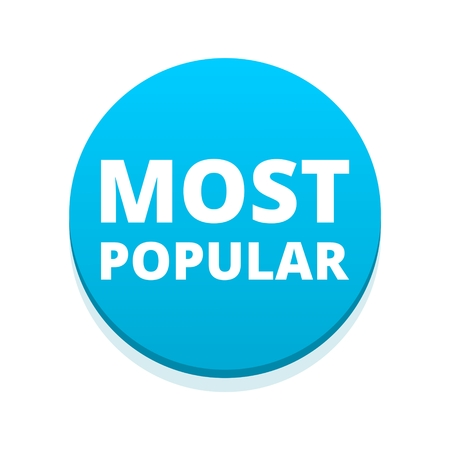 popular: Most Popular sign, button, icon Illustration