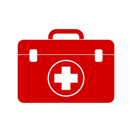 first aid box: Red first aid box Illustration