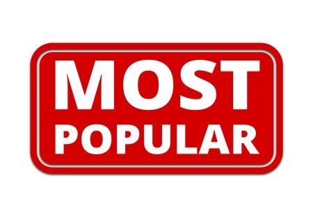 popular: Most Popular sign, button, icon Illustration