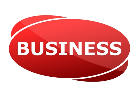 business sign: Business red sign Illustration