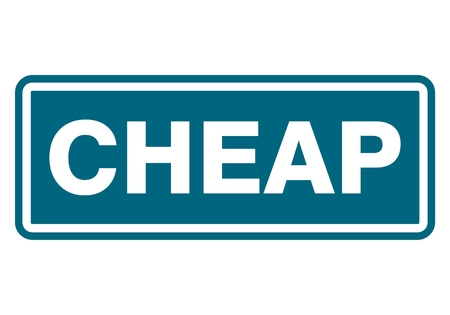 cheap: Cheap sign, icon, stamp