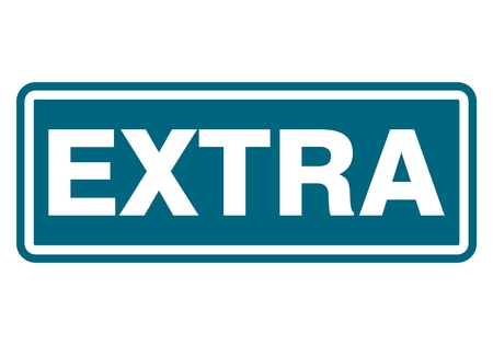 extra: Extra sign, icon, stamp