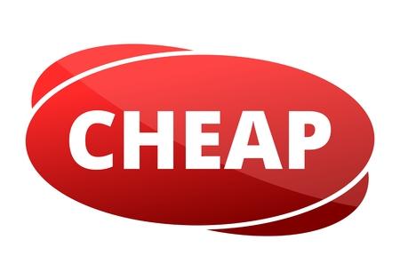 cheap: Cheap red sign