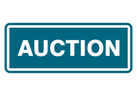 auctioneer: Auction sign, icon, stamp Illustration