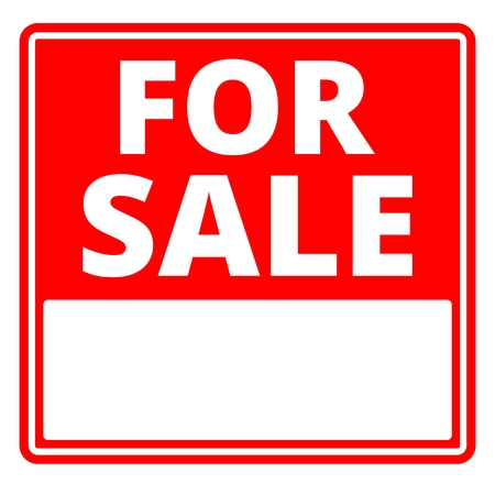 sale sign: For sale sign with blank copy space
