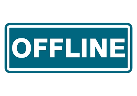 offline: Offline sign, icon, stamp