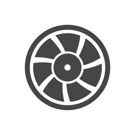 exhaust fan: Exhaust fan vector icon Illustration