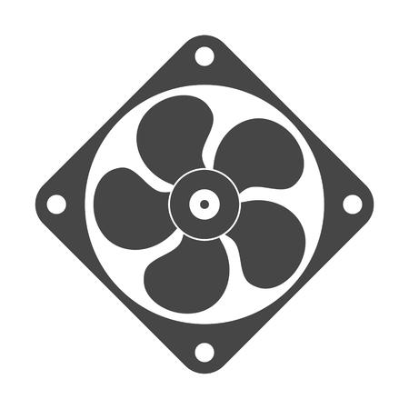 airscrew: Exhaust fan vector icon Illustration