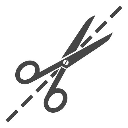 coiffure: Scissors symbol icon Illustration