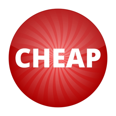 cheap: Cheap red sign, button, icon