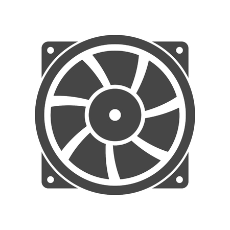 exhaust: Exhaust fan vector icon Illustration