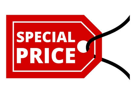 special price: Red special price sign