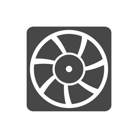 aeration: Exhaust fan vector icon Illustration