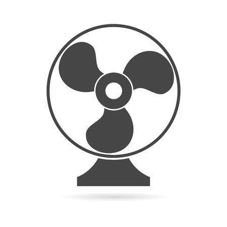 orificio nasal: De escape icono del ventilador del vector Vectores