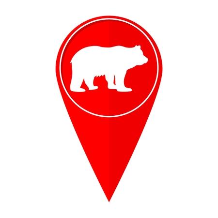family park: Map pointer bear