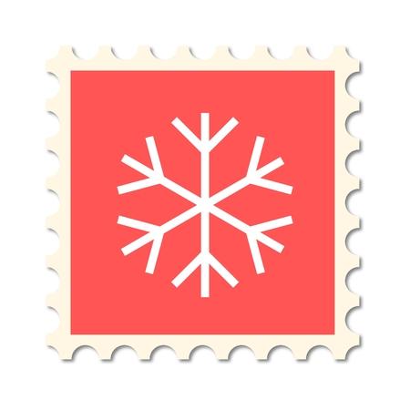 post stamp: Christmas post stamp (snowflake)