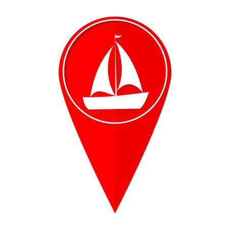 sailfish: Map pointer Sailfish boat