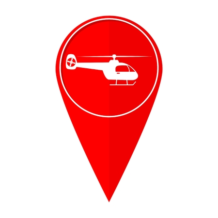 Map pointer helicopter