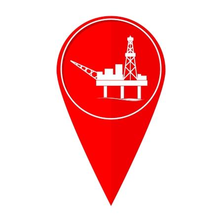 benzine: Map pointer Oil and petroleum