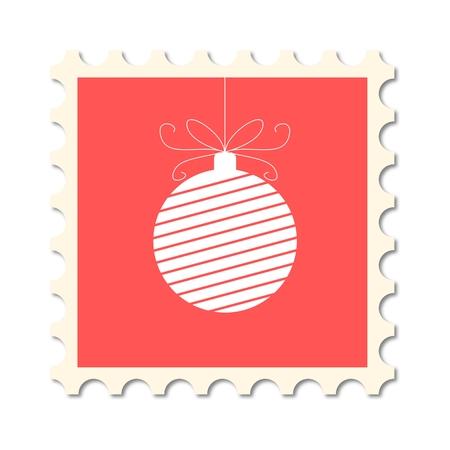 post stamp: Christmas post stamp (christmas ball)