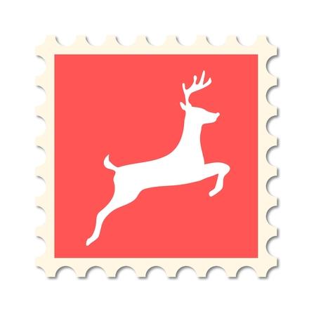 post stamp: Christmas post stamp (deer)