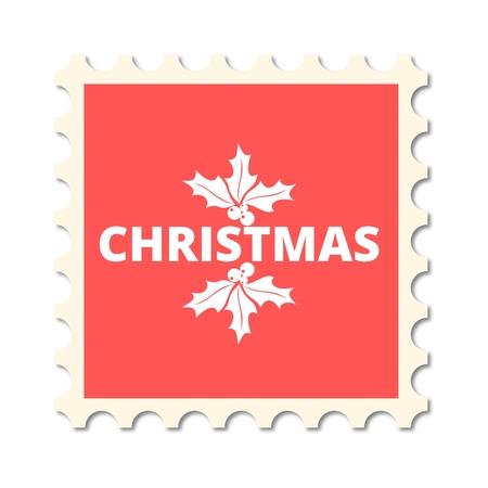 post stamp: Christmas post stamp