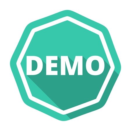 demo: Demo blue sign