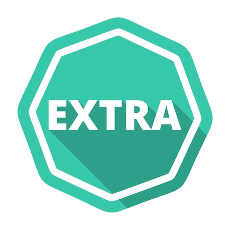 extra: Extra icon with long shadow