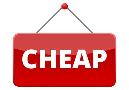 Cheap red sign Векторная Иллюстрация