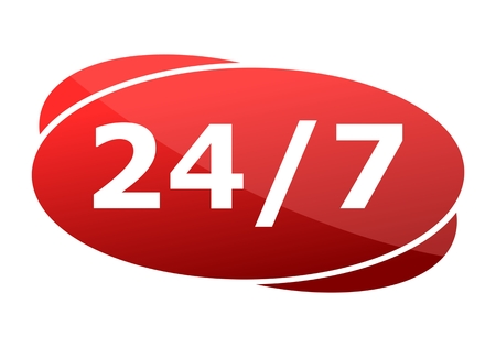 red ribbon week: Red button 247 support badge