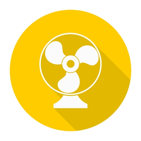 aeration: Exhaust fan icon with long  shadow Illustration