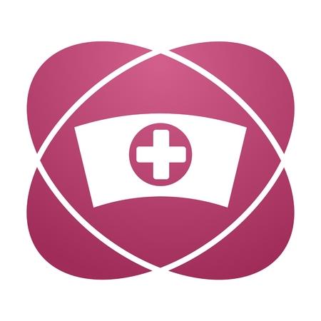 nurse cap: Pink sign nurse cap