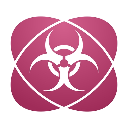 contagious: Pink sign biohazard