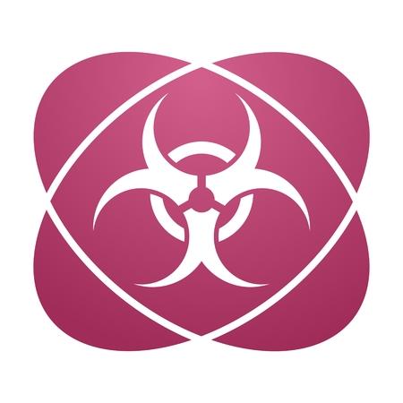 biohazard: Pink sign biohazard