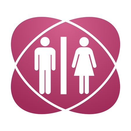 genders: Pink sign toilet Illustration