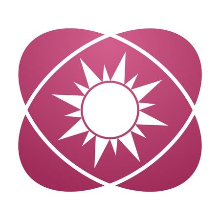 Pink sign sun Illustration