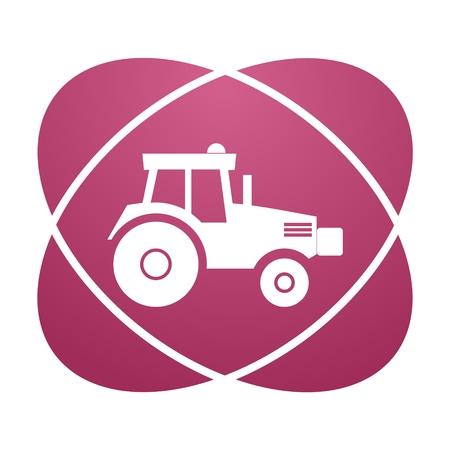 harrow: Pink sign tractor