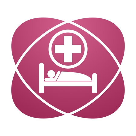surgery stretcher: Pink sign hospital bed