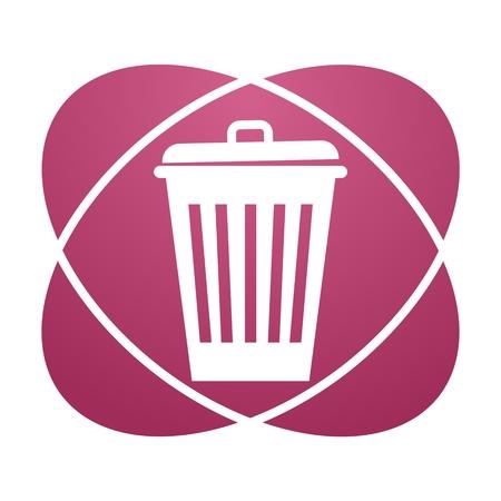 Pink sign trash Illustration
