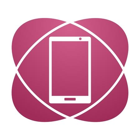 smart phone: Pink sign smart phone